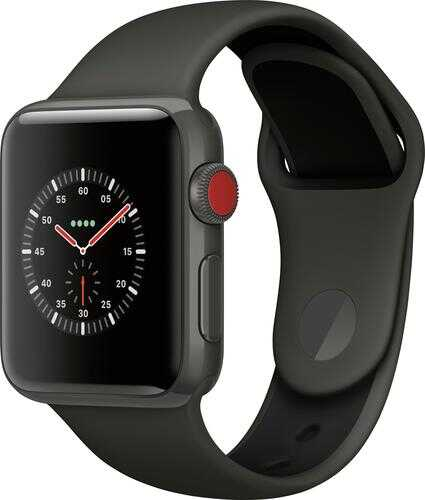 Rent to own Apple Watch Edition (GPS + Cellular) 38mm Gray Ceramic Case with Gray/Black Sport Band - Gray Ceramic