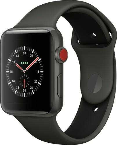 Rent to own Apple Watch Edition (GPS + Cellular) 42mm Gray Ceramic Case with Gray/Black Sport Band - Gray Ceramic
