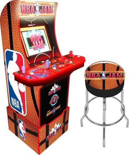 Lease to Own Arcade1up Special Edition NBA Jam Arcade & Stool